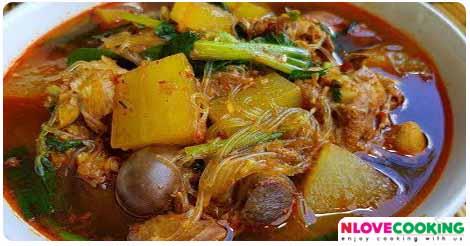 แกงไก่ใส่ฟักหม่น แกงเหนือ อาหารไทย เมนูไก่