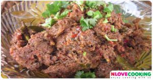 น้ำพริกปลาร้าผัด น้ำพริก อาหารไทย