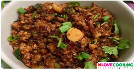 น้ำพริกหมูโคราช อาหารไทย เมนูน้ำพริก