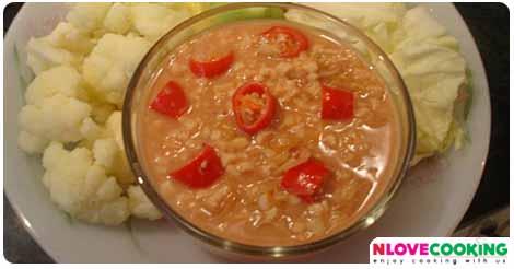 น้ำพริกเต้าหู้ยี้ อาหารไทย น้ำพริก เมนูเต้าหู้ยี้