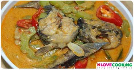 แกงคั่วมะระ อาหารไทย เมนูแกง เมนูปลา