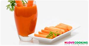 น้ำแครอท สูตรเครื่องดื่ม น้ำผลไม้ เมนูคลายร้อน