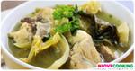ขาหมูต้มผักกาดดอง อาหารเหนือ เมนูแกง อาหารจีน