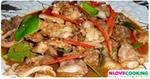 ไก่กะปิ ไก่ผัดกะปิ อาหารไทย เมนูไก่