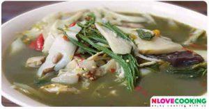 แกงหน่อไม้ใบย่างนาง อาหารไทย อาหารอีสาน เมนูแกง