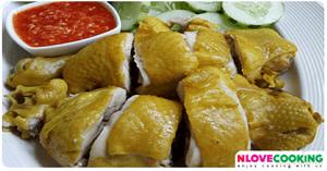 ไก่ต้มน้ำปลา อาหารไทย เมนูไก่ เมนูต้มน้ำปลา