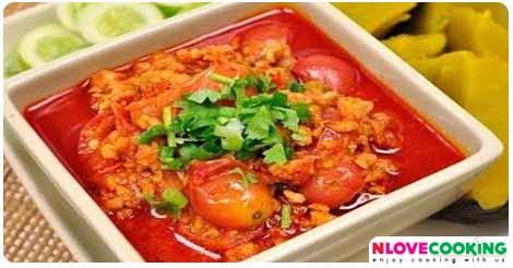 น้ำพริกอ่องทูน่า น้ำพริก อาหารไทย อาหารเหนือ