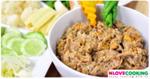 น้ำพริกปลาร้าสับ อาหารไทย เมนูน้ำพริก อาหารพื้นบ้าน