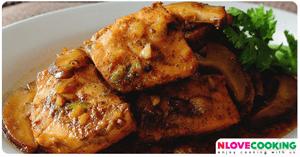 ปลาแซลมอนผัดพะโล้ อาหารเวียดนาม เมนูปลา เมนูพะโล้