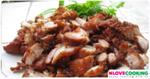 หมูทอด อาหารจีน เมนูหมู การหมักหมูทอด