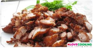 หมูทอด อาหารไทย เมนูหมู การหมักหมูทอด