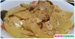 แกงคั่วซี่โครงหมูหน่อไม้สด อาหารไทย เมนูแกงคั่ว เมนูหมู