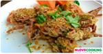 ปูม้าทอดกระเทียมพริกไทย อาหารไทย เมนูปูม้า เมนูทอด
