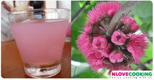 น้ำเกสรดอกชมพู่ เกสรดอกชมภู่ เครื่องดื่ม น้ำผลไม้