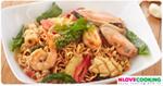 มาม่าผัดหอยแมลงภู่ อาหารไทย เมนูผัด เมนูมาม่า