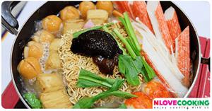 มาม่าต้มยำเกาหลี อาหารเกาหลี เมนูเส้น เมนูต้มยำ