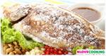 ปลาทับทิมย่าง จิ้มแจ่ว อาหารไทย เมนูปลา