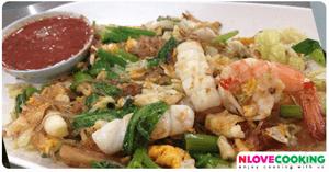 ผัดสุกี้แห้ง อาหารไทย อาหารจานเดียว เมนูผัด