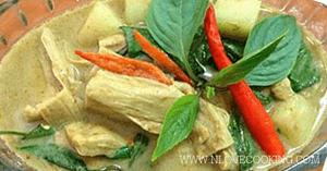 แกงเขียวหวานเจ อาหารไทย เมนูแกง อาหารเจ