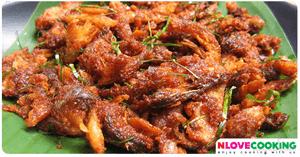 น้ำพริกปลากรอบ อาหารไทย เมนูน้ำพริก เมนูปลา