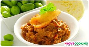 น้ำพริกระกำ อาหารไทย อาหารพื้นบ้าน เมนูน้ำพริก