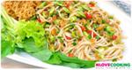 ตำข้าวปุ้น ยำขนมจีน อาหารไทย เมนูส้มตำ