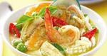 แกงเขียวหวานทะเล อาหารไทย แกงกะทิ อาหารทะเล