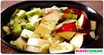 แอลมอนครีมสลัดผลไม้ สูตรอาหาร เมนูสลัด อาหารคลีน