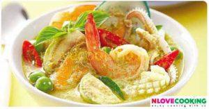 แกงเขียวหวานทะเล อาหารไทย เมนูแกง แกงเขียวหวาน