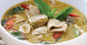 แกงเขียวหวานหมู อาหารไทย แกงกะทิ เมนูหมู