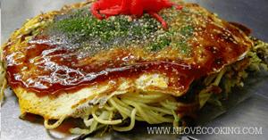 พาสต้าโอโคโนมิยากิ เมนูเส้น อาหารญี่ปุ่น