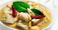 ต้มยำปลาช่อน อาหารไทย เมนูต้มยำ เมนูปลา
