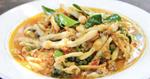 หอยหลอดผัดโหระพา เมนูหอยหลอด อาหารไทย