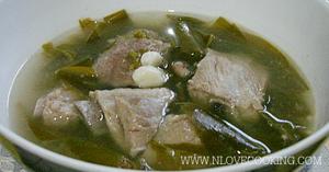หมูต้มใบชะมวง อาหารไทย เมนูหมู