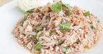 ลาบเส้นบุกไก่ ลาบไก่เส้นบุก อาหารไทย เมนูไก่