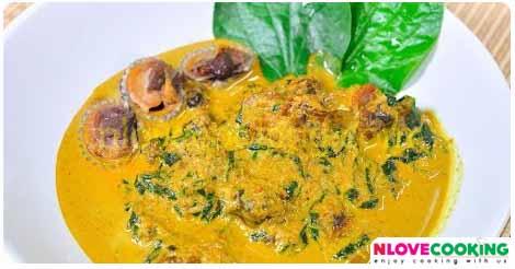 แกงคั่วหอยแครง แกงคั่วกะทิหอยแครง อาหารไทย เมนูแกง