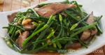 ตับหมูผัดหน่อไม้ฝรั่ง เมนูตับ เมนูผัด อาหารไทย
