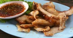 คอหมูย่าง อาหารไทย เมนูหมู