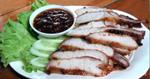 คอหมูย่าง อาหารไทย เมนูปิ้งย่าง เมนูหมู