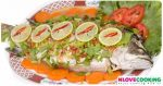 ปลากระพงนึ่งมะนาว อาหารไทย เมนูปลา เมนูนึ่ง