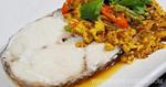 ปลาหิมะผัดผงกะหรี่ เมนูปลา เมนูผัด อาหารไทย