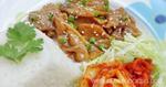 ข้าวหน้าหมูเกาหลี เมนูหมู อาหารจานเดียว กับข้าวจากหมู