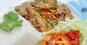 ข้าวหน้าหมูเกาหลี เมนูหมู อาหารจานเดียว
