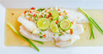 ปลาดอลลี่นึ่งมะนาว เมนูปลา อาหารไทย