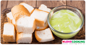 ขนมปังสังขยา ขนมหวาน วิธีทำสังขยาใบเตย