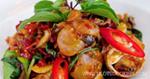 หอยหวานผัดพริกแห้ง เมนูหอย อาหารไทย อาหารใต้
