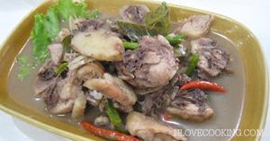 ไก่รวนปลาร้า เมนูไก่ อาหารไทย