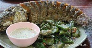 ปลาช่อนเกยตื้น อาหารไทย เมนูปลา