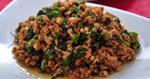ผัดเผ็ดเนื้อใบยี่หร่า เมนูผัด อาหารไทย อาหารใต้