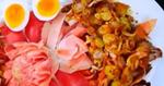 หมูย่างดอกดาหลา อาหารไทย เมนูหมู